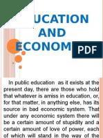 Education and Economics