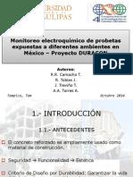 MONITOREO ELECTROQUIMICO DE PROBETAS EXPUESTAS A DIFERENTES AMBIENTES EN MEXICO