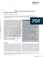 Human papillomavirus (HPV) vaccine policy and evidence-based medicine