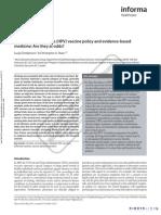 Human papillomavirus (HPV) vaccine policy and evidence-based medicine