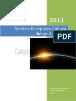 Analisis Kecepatan Cahaya didalam Al-Quran.pdf