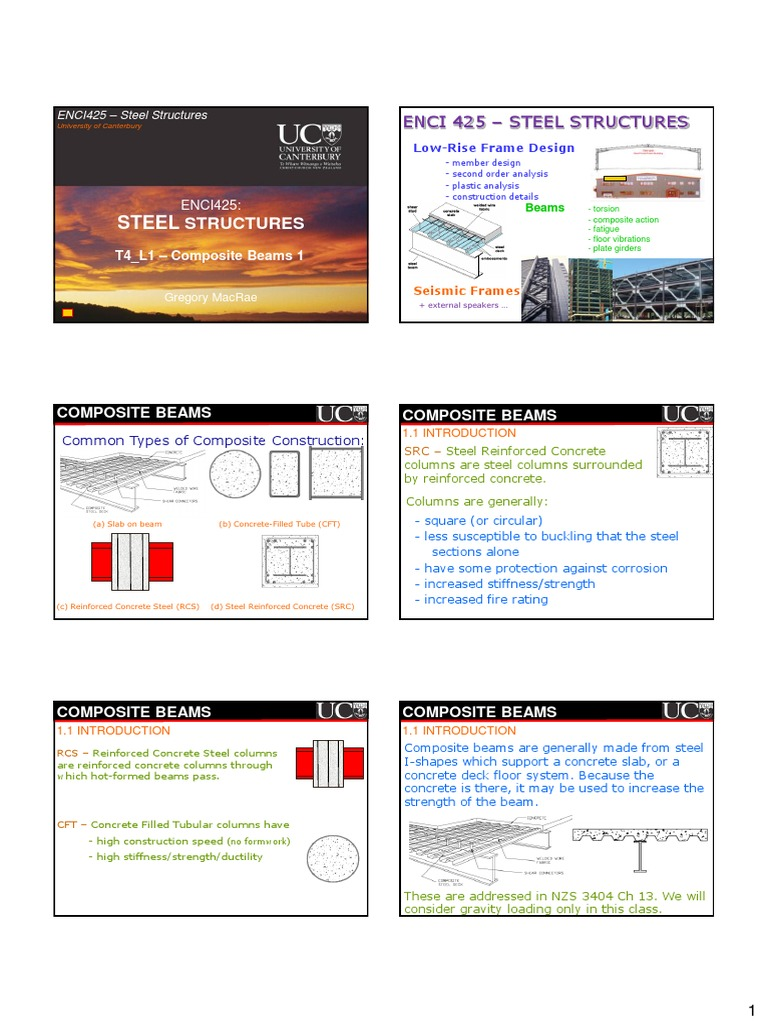 ENCI425_T4_1_Composite_1 | Beam (Structure) | Reinforced