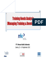 Training Needs Analysis (Managing Training & Development)