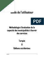 Guide de l'utilisateur – Méthodologie d'évaluation de la capacité des municipalités à fournir des services (Turquie & Balkans occidentaux)