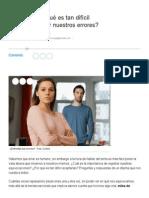 ¿Por Qué Es Tan Difícil Aceptar Nuestros Errores_ - María Gabriela Palleros - Revista Ohlalá!