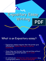 Expository essay powerpoint.ppt