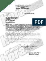Carta de Antonio Silva Delgado solicitando liberacion de Junior Cápsula