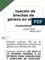 Brechas Género en el Tribunal Sipremo de Elecciones deCosta Rica