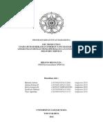 Proposal PKM Kewirausahaan Lolos PIMNAS 2013