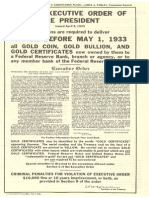 1933 Exec Order 6102 Gold Clause