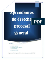 Aprendamos de Derecho Procesal General - Cuasquer Zambrano