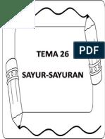 Tema 26 Sayur-sayuran (15 Ms)