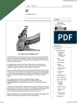 Build An AK 47 pdf | Firearms | Rifle