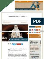 Www Ishafoundation Org Blog Sadhguru Spot From a Person to A