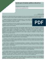 Uso Limitado de La Evaluación Para Formular Políticas Educativas- InEE