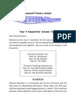 Newsletter Year 4 Autumnn 2015