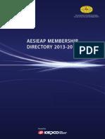 Aesieap Membership Directory 2013-2014