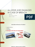 Actions and Damages in Case of Breach