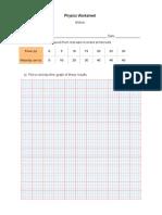 Physics Worksheet Motion