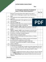 Checklist for Non o Family Dependant 080115