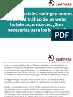 Las redes sociales redirigen menos de 2% del tráfico de las webs hoteleras, entonces, ¿Son necesarias para los hoteles?