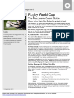 Rugby World Cup - The Macquarie Quant Guide MAC