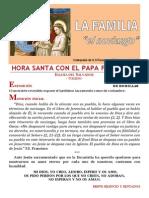 HORA SANTA CON EL PAPA. La Familia. El Noviazgo (17)