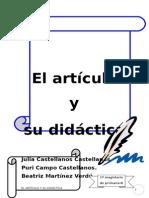 EL ARTÍCULO Y SU DIDÁCTICA.doc