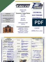 GSU Spring Football Clinic Flyer