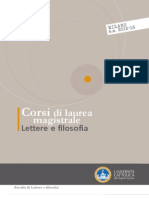 Corsi-di-laurea-opuscolo Laurea Magistrale Lettere e Filosofia 2015