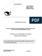 Cameroun - Projet de Construction d'Infrastructures de Réparation de Plates-Formes Pétrolières a Limbé - Rapport d'Évaluation