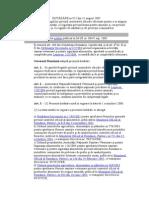 HOTĂRÂRE Nr.925 Din 11 August 2005 Controale Oficiale Pentru Verificarea Conformitatii Cu Legislatia Privind Hrana Anim Si Alimentele