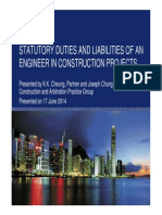 Statutory Duties and Liabilities of an Engineer in Construction Projects