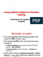 Spatial Analyst Decision making