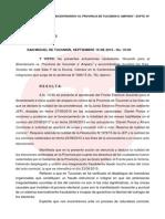 Fallo que anula elecciones en Tucumán