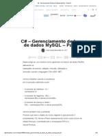 C# - Gerenciamento de Banco de Dados MySQL - Parte 01