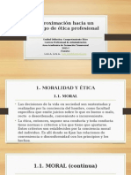Aproximación Hacia Un Código de Ética Profesional