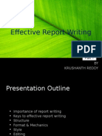 Effective Report Writing KRUSHANT