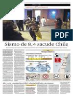 Sismo de 8,4 Sacude Chile