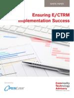 Ensuring E/CTRM Implementation Success