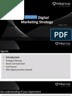Digital Marketing Plan & Advertising Cost Forecast