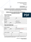Inscripción Club Temporada 2015/2016