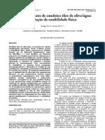 Emulsões Óleo de Olivaágua Estabilidade