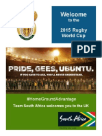 2015 Rugby World Cup Welcome Booklet