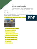Pressure Vessel Dimension Inspection