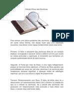 Princípios Para Um Estudo Eficaz Das Escrituras