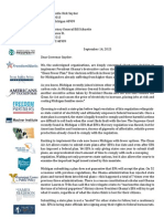 Michigan Clean Power Plan Coalition Letter