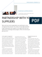 Partnership with your suppliers