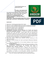 AMISOM Youth Sensitization and Mobilization for Vision 2016