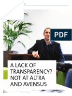 A lack of transparency? Not at Altra and Avensus